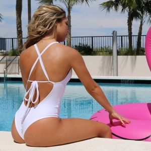 Other - Sexy One Piece Swimsuit- White